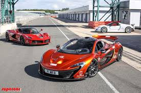 nissan spyder laferrari p1 and 918 spyder finally tested together video