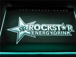 rockstar energy drink led sign u2013 vintagily