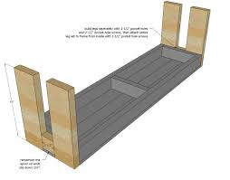 Farm Benches - ana white build a modern farm bench new updated pocket hole