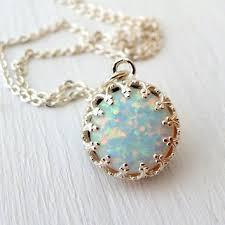 white opal necklace images Eldortinajewelry on wanelo jpg