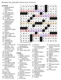 Opulence Crossword Clue The New York Times Crossword In Gothic 07 21 11 U2014 Say Cheese
