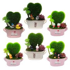 cactus home decor couple gift home decor artificial plant pot cute decor office