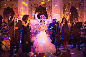 lively wedding band lavish wedding with colorful reception at the plaza in nyc