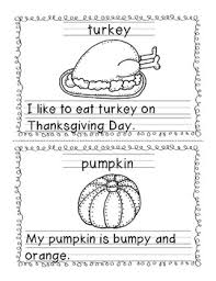 my thanksgiving words and sentences book freebie tpt