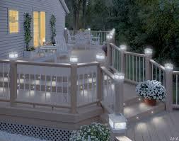 Solar Patio Light Exteriors Lighting Ideas Deck Railing Trends Including Solar
