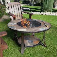 Firepit Dining Table by Furniture Great Outdoor Dining Room Decorating Design With Square