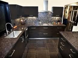 glass tile backsplash with dark cabinets backsplash for dark cabinets glass mosaic tile backsplash with tan