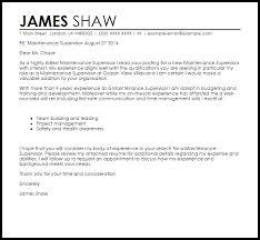 Supervisor Sample Resume by Trendy Maintenance Cover Letter 12 Supervisor Sample Cv Resume Ideas