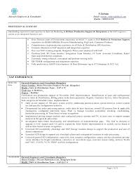 Sap Bpc Resume Samples by Sap Fi Consultant Resume Format Contegri Com
