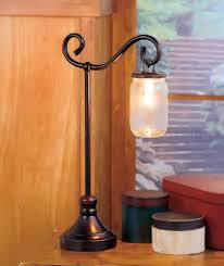 1 bronze mason jar table lamp country rustic accent light den