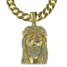 jesus piece necklace images Gold 33 quot cuban jesus chain cuban chains png