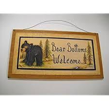 Bathroom Outhouse Decor Amazon Com Bear Bottoms Welcome Teddy Country Bathroom Outhouse
