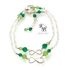 mothers birthstone bracelets and me jewelry bracelet set infinity
