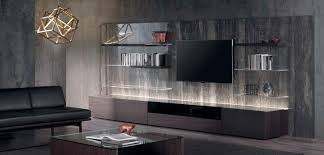 Contemporary Tv Table Contemporary Tv Wall Unit Lacquered Wood N C Ground Acerbis