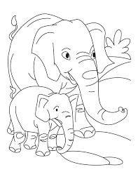 elephant baby elephant coloring pages download free
