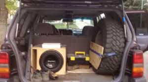 jeep wagoneer trunk 1997 jeep zedjay where to mount a spare tire and make extra