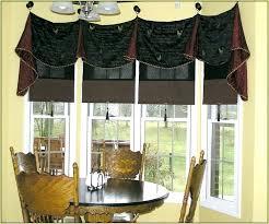 kitchen bay window curtain ideas bay window valance ideas arealive co