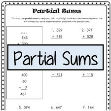 3rd grade common core partial sums by kendra seitz tpt