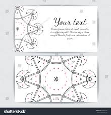 invitation business card banner text template stock vector