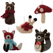 felt ornaments felt woodland animal ornaments global