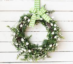 five minute dollar store forsythia wreath the happy housie