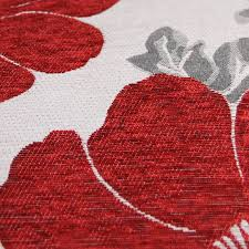 Red Bed Cushions Chenille Poppy Cushions Large U0026 Small Floral Sofa Bed Scatter