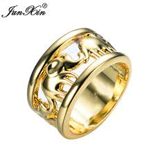 aliexpress buy gents rings new design yellow gold aliexpress buy junxin gold elephant design women