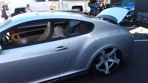 tiffany blue bentley custom bentley at sema show las vegas 2015 youtube