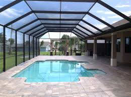 pool ceramic tile large conservatory building in deck