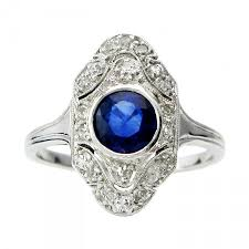 art deco sapphire u0026 diamond ring vintage rings 2449176 weddbook