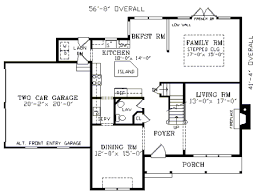 All In The Family House Floor Plan Chatsworth 3390 4 Bedrooms And 2 Baths The House Designers