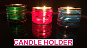 diy how to make candle holder from bangles diwali decorations