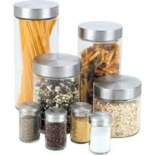 glass kitchen canister set glass bathroom canister set wayfair