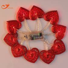 valentines lights 10led fairy lights s day heart shape light party