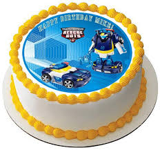 transformers cake toppers transformers rescue bots 5 edible cake or cupcaketopper edible