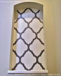 moroccan stencils large marrakesh trellis royal design studio