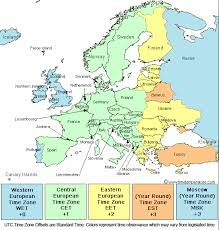 map of euorpe time zone map