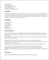 Grocery Store Resume Sample by Professional Butcher Apprentice Templates To Showcase Your Talent