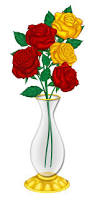 Vase With Roses Beautiful Vase With Red And Yellow Roses Png Picture Gallery