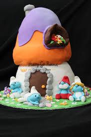 merry go round cupcakes u0026 cakes birthday cake smurf house theme