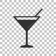 martini transparent cocktail sign illustration dark gray icon on transparent