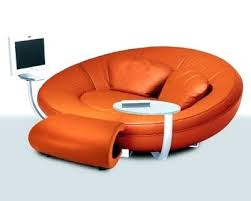 sofa design orange cool couches sale round white metal steel iron