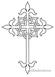 free embroidery pattern cross crown of thorns