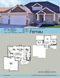 1 5 story craftsman house plan fernau