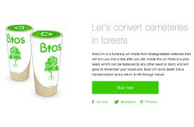 bios urn biodegradable urns is this the end of the traditional cemetery