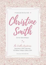 birthday invitation template pink floral birthday invitation templates by canva