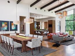 combined kitchen and dining room lake austin contemporary paula ables interiors