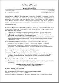 Procurement Resume Sample by Resume Procurement Manager Resume
