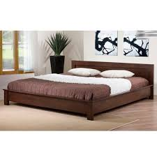 Platform Bed With Nightstands Attached Alsa Deep Brown King Platform Bed Free Shipping Today