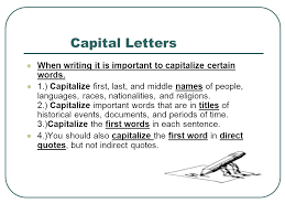 the great grammar review are you ready capital letters when
